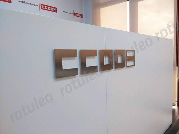 Rótulo corpóreo interior CCOO