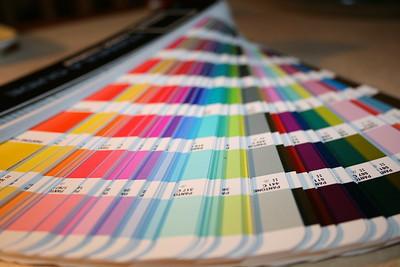 Muestrario Pantone para impresión de vinilos
