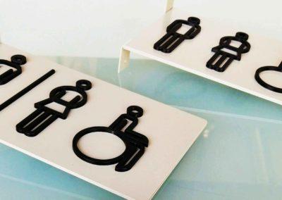 Señalización baños